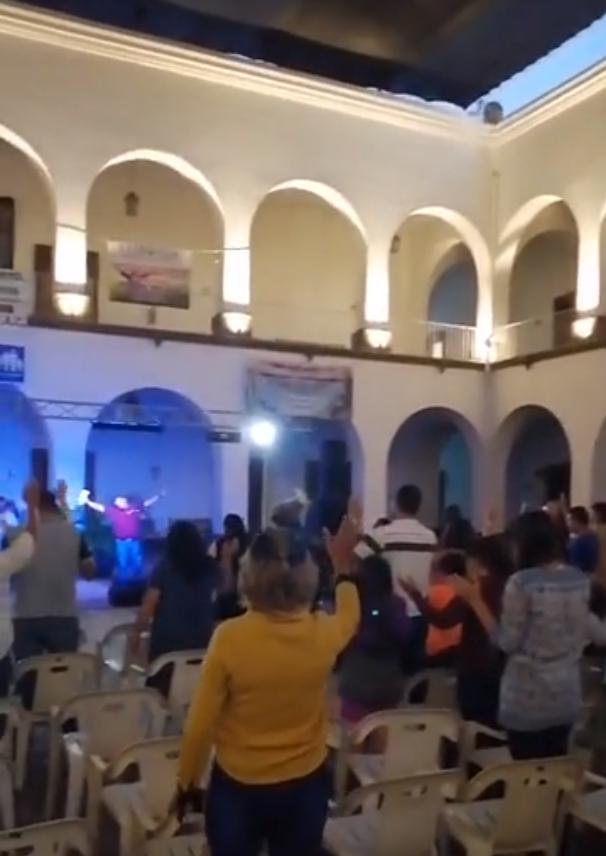 Culto cristiano en ayuntamiento de Culiacán